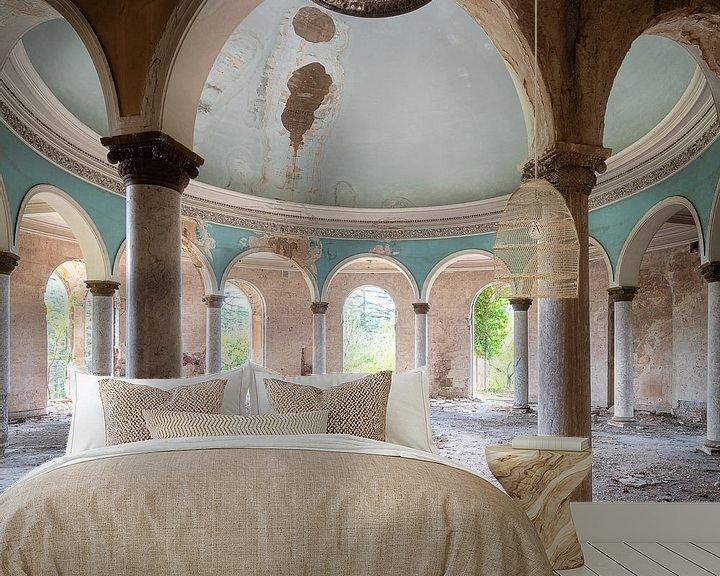 Beispiel fototapete: Verlassene Kuppel mit Säulen. von Roman Robroek