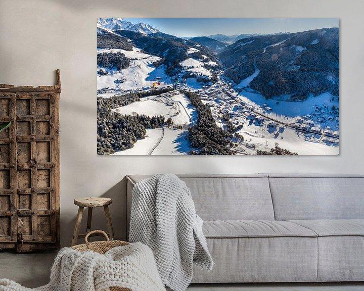 """Sfeerimpressie: Luchtopname: """"Filzmoos in de Winter"""" van Coen Weesjes"""
