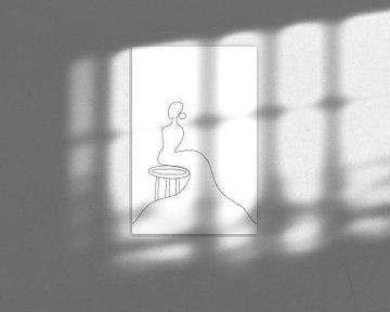 Frau im Abendkleid von MishMash van Heukelom