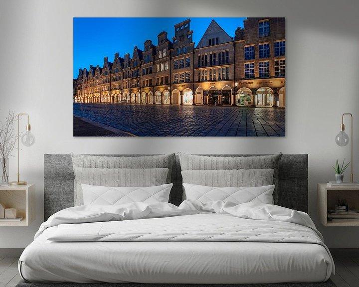 Beispiel: Prinzipalmarkt Münster zur blauen Stunde von Steffen Peters
