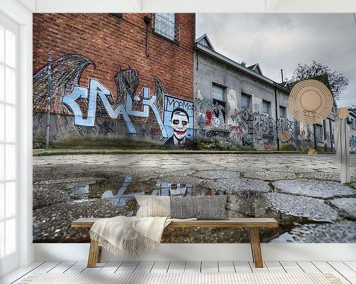 Sfeerimpressie behang: Street art België van Mark Bolijn