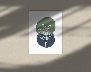 Abstracte Botanische Print van MDRN HOME