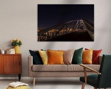 AMSTERDAM : Oosterdok Amsterdam vanaf Mr. JJ vd Veldbrug van Paul Veen