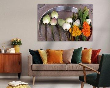 Bloemen in India van Gert-Jan Siesling