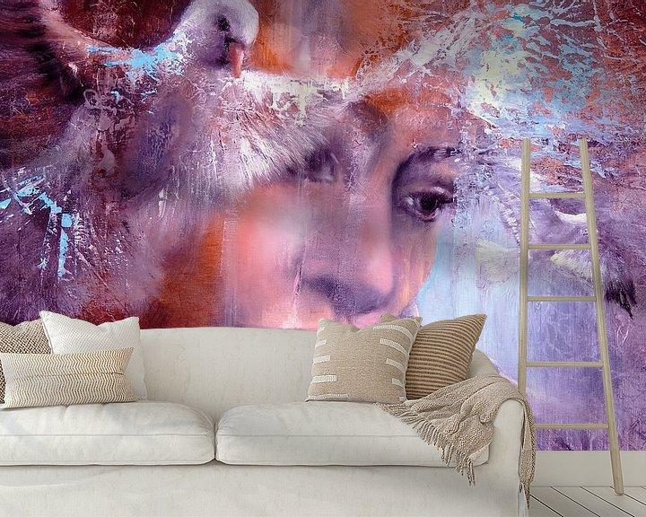 Sfeerimpressie behang: Jeg drømte om, at jeg flyver van Annette Schmucker