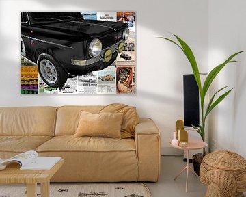 Simca Abarth 1150 mit Original Simca-Annoncen von aRi F. Huber