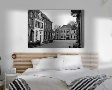 Smeepoortenbrink van Harderwijk in Schwarz-Weiß von Gerard de Zwaan