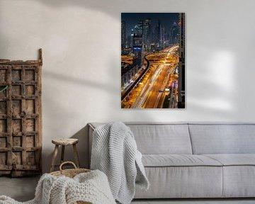 Skyline Dubai van Jeroen Kleiberg