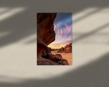 Sonnenuntergang in der Wüste von Jeroen Kleiberg