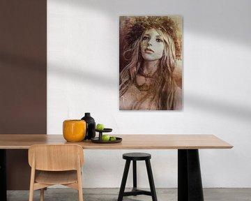 Sepia vrouw van Marijke de Leeuw - Gabriëlse