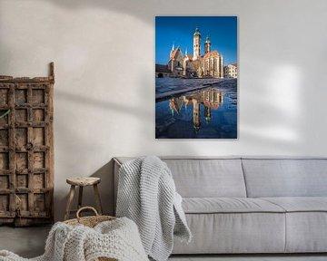 Naumburgse Dom in de spiegel van Martin Wasilewski