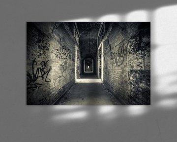 Graffiti corridor van The Pixel Corner