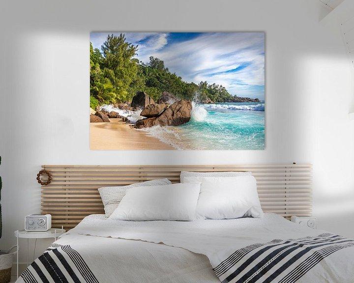 Beispiel: Traumstrand Insel Mahe von Manfred Schmierl