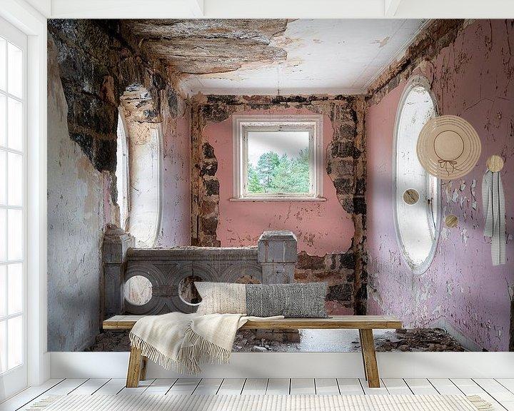 Beispiel fototapete: Verlassene Rosa Treppe. von Roman Robroek
