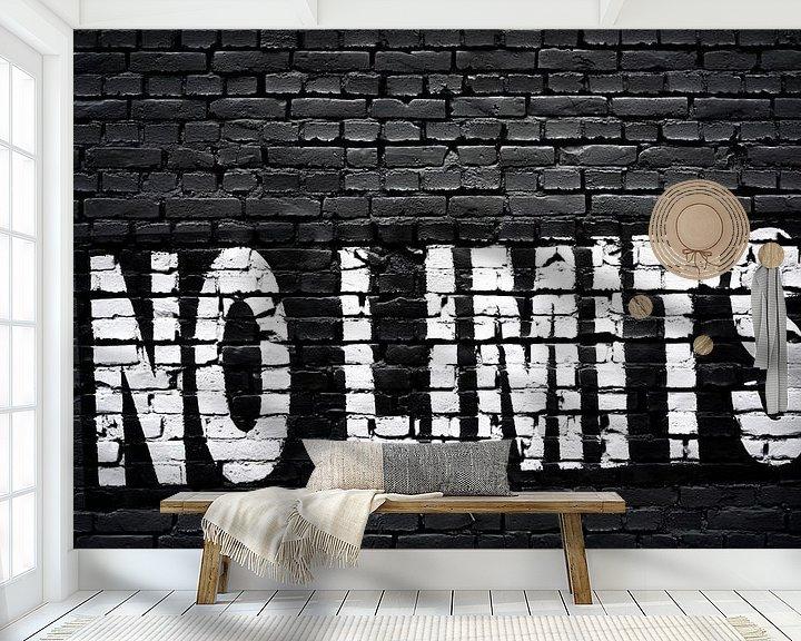 Sfeerimpressie behang: Geen grenzen! van Günter Albers