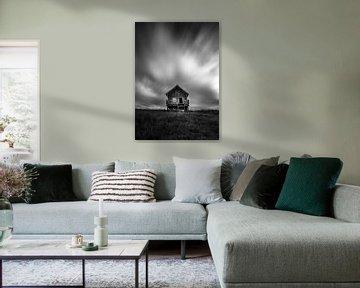 Kabine auf der isländischen Hei von Ard Jan Grimbergen