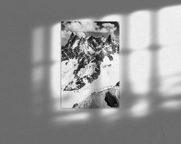 Sfeerimpressie: Bergbeklimmers, Alpen van Frank Peters