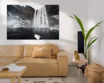Skógafoss waterval in Ijsland