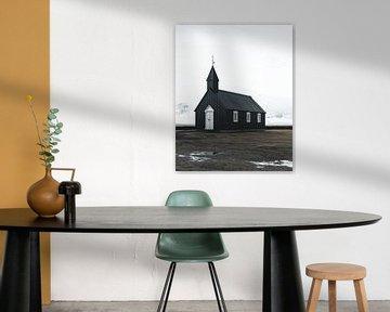 Schwarze Kirche in Island (Búðakirkja) von Michiel Dros