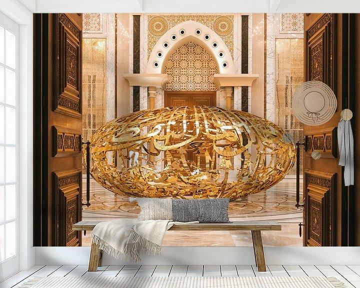 Beispiel fototapete: Qasr al Watan, der goldene Palast des Scheichs in Abu Dhabi. von Michiel Dros