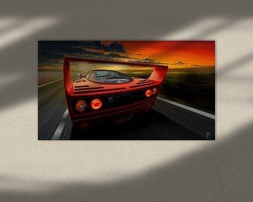 Ferrari F40 van Thomas Bigwood