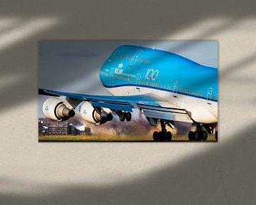 Start der KLM-Boeing 747-400 von Polderbaan von Dennis Janssen