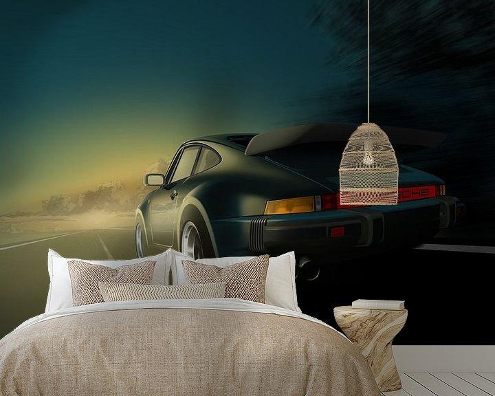 Beispiel fototapete: Porsche 911 Turbo (930) von Thomas Bigwood