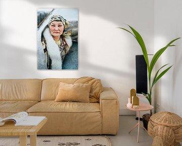Portret van vrouw uit Siberië   Portret Portretfotografie reizen reisfotografie vrouw van Milene van Arendonk