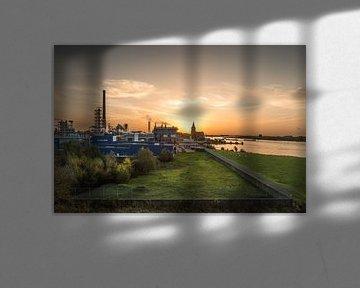 Flussdelta in der Morgensonne von Thomas Boelaars