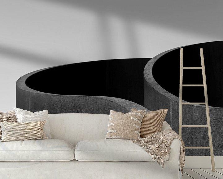 Sfeerimpressie behang: Waves of steel van Edwin Muller