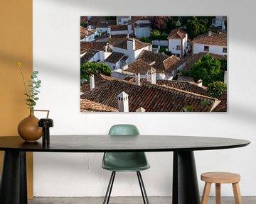 Blick über die Dächer von Obidos von Urban Photo Lab