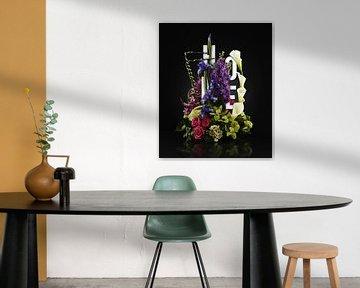 Home sweet home Blumen Stilleben von Bert Hooijer
