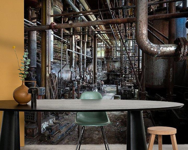 Beispiel fototapete: Rohre in einer verlassenen Fabrik. von Roman Robroek