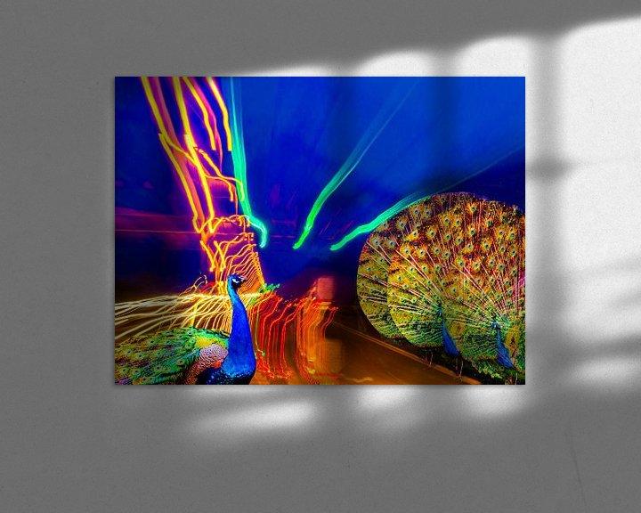 Sfeerimpressie: peacock on the way van Lidy Rensink