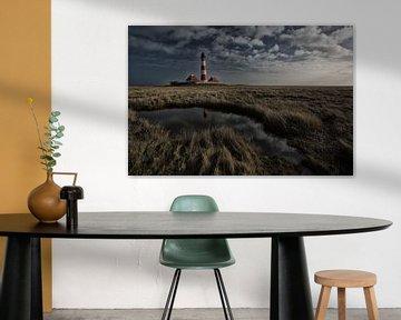 Leuchtturm Westerhever von Angelika Stern