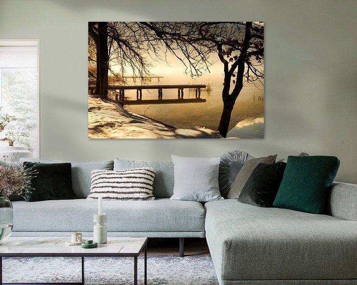 Sfeerimpressie: Winterlandschap aan het meer van Frank Herrmann