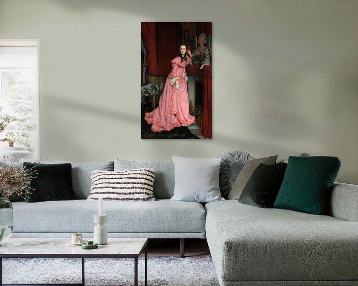 Beispiel: Porträt der Marquise de Miramon, James Tissot