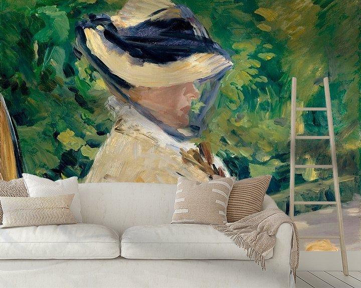 Beispiel fototapete: Madame Manet im Bellevue, Édouard Manet