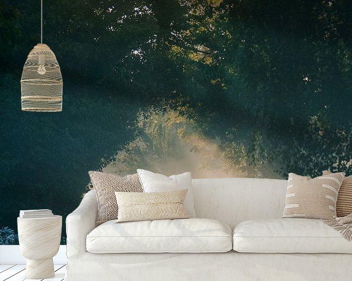 Sfeerimpressie behang: Magische bosweg van Jakub Wencek