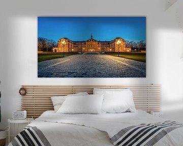 Das Schloss in Münster zur blauen Stunde von Steffen Peters