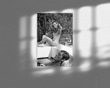 Romy Schneider en Alain Delon van Bridgeman Images