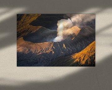 Fumer le volcan Bromo à Java, en Indonésie sur Reis Genie