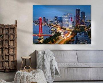 Uitzicht op Rotterdam, Nederland van Frank Verburg