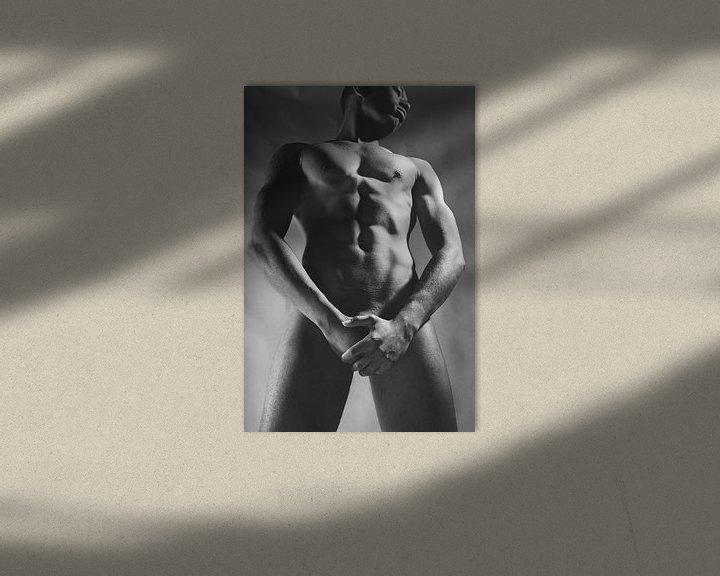 Beispiel: Sehr schöner nackter dunkler Mann. Foto in Schwarzweiß #E9406 von william langeveld