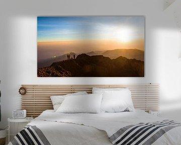 Gunung Rinjani - Lombok Indonesie van Pieter Wolthoorn
