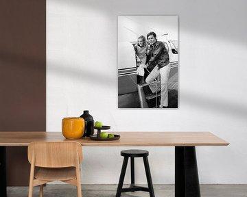 Alain Delon und Romy Schneider von Bridgeman Images