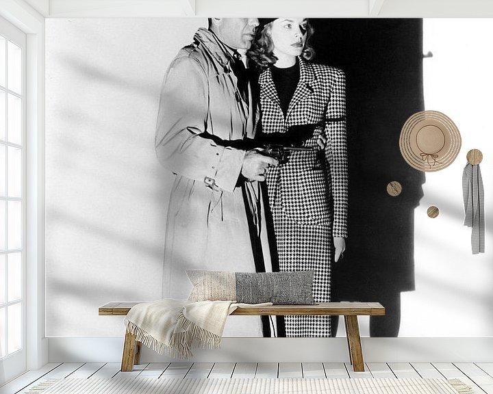 Beispiel fototapete: Humphrey Bogart und Lauren Bacall, The Big Sleep, 1946 von Bridgeman Images