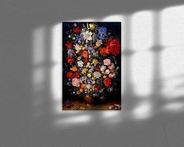 Blumenvase mit Schmuck, Münzen und Muscheln, Jan Brueghel de Oude