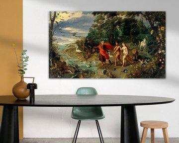 Adam und Eva im Garten Eden, Jan Brueghel de Jonge