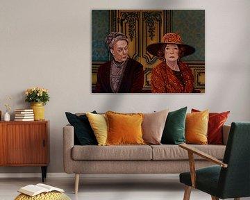 Downton Abbey Painting 5 Maggie Smith und Shirley Maclaine von Paul Meijering